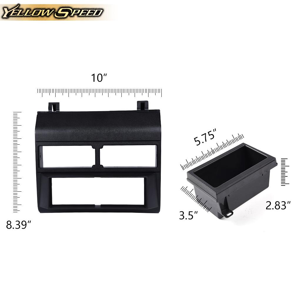 Radio Single Din Dash Pocket Bezel Panel Kit Black For 88