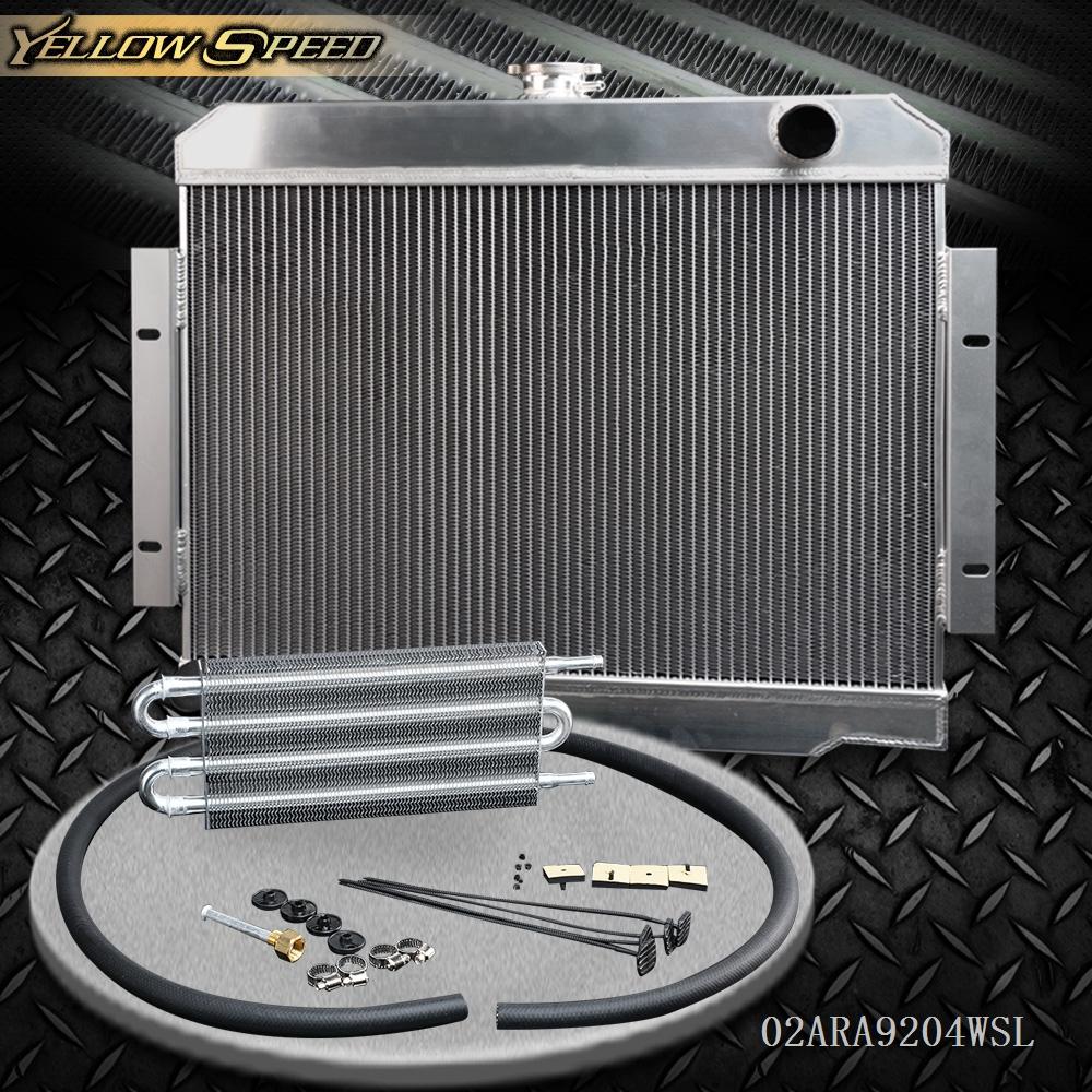 3 Core Aluminum Radiator For Jeep CJ CJ5 CJ6 CJ7 3.8L 4.2L 5.0L 1970-1985 AT//MT