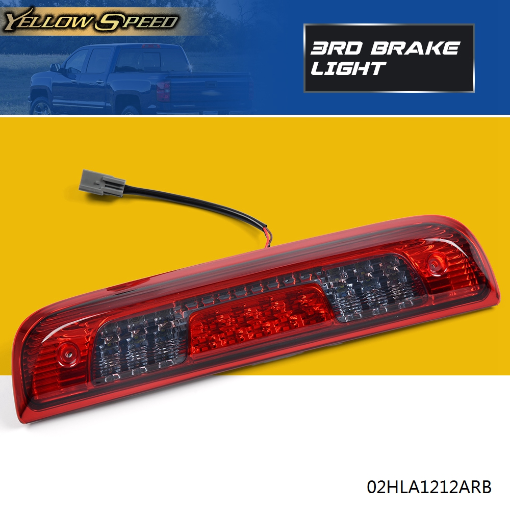 Rear 3rd LED Brake Light Red Smoke Chevy Silverado GMC Sierra 2014-2018