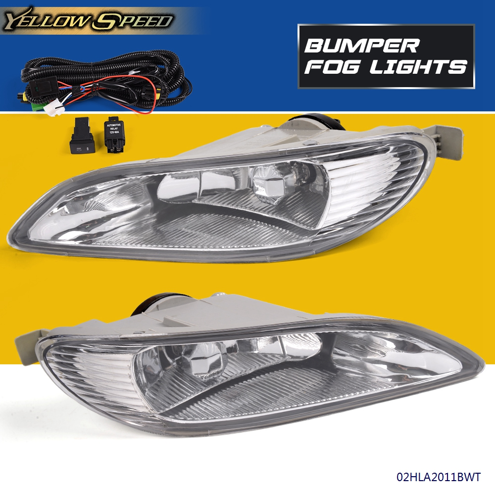For 2002-2004 Toyota Camry//05-08 Corolla Fog Lights+Wiring Harness+Switch